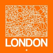 NAXART Studio - Orange Map of London