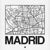 NAXART Studio - White Map of Madrid