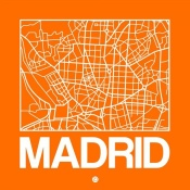 NAXART Studio - Orange Map of Madrid