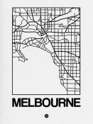 NAXART Studio - White Map of Melbourne