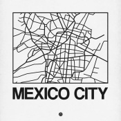 NAXART Studio - White Map of Mexico City