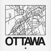 NAXART Studio - White Map of Ottawa