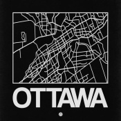 NAXART Studio - Black Map of Ottawa