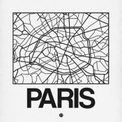 NAXART Studio - White Map of Paris