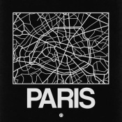 NAXART Studio - Black Map of Paris