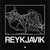 NAXART Studio - Black Map of Reykjavik