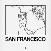 NAXART Studio - White Map of San Francisco