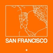 NAXART Studio - Orange Map of San Francisco