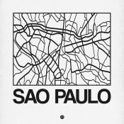 NAXART Studio - White Map of Sao Paulo