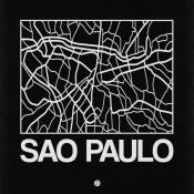 NAXART Studio - Black Map of Sao Paulo