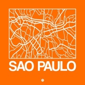 NAXART Studio - Orange Map of Sao Paulo