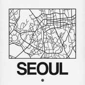 NAXART Studio - White Map of Seoul