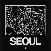 NAXART Studio - Black Map of Seoul