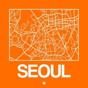 NAXART Studio - Orange Map of Seoul