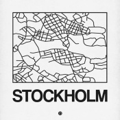 NAXART Studio - White Map of Stockholm