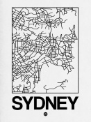 NAXART Studio - White Map of Sydney