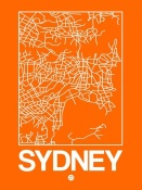 NAXART Studio - Orange Map of Sydney