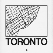 NAXART Studio - White Map of Toronto