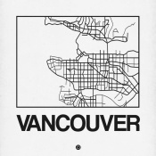NAXART Studio - White Map of Vancouver