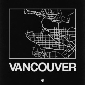 NAXART Studio - Black Map of Vancouver