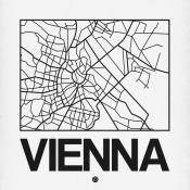 NAXART Studio - White Map of Vienna