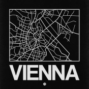 NAXART Studio - Black Map of Vienna