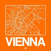 NAXART Studio - Orange Map of Vienna