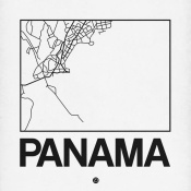 NAXART Studio - White Map of Panama