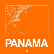 NAXART Studio - Orange Map of Panama