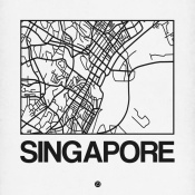 NAXART Studio - White Map of Singapore