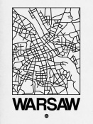 NAXART Studio - White Map of Warsaw