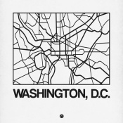 NAXART Studio - White Map of Washington, D.C.