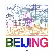 NAXART Studio - Beijing Watercolor Street Map
