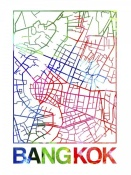 NAXART Studio - Bangkok Watercolor Street Map