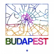 NAXART Studio - Budapest Watercolor Street Map