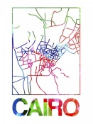 NAXART Studio - Cairo Watercolor Street Map