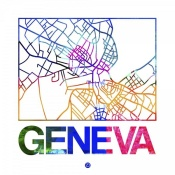 NAXART Studio - Geneva Watercolor Street Map