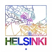 NAXART Studio - Helsinki Watercolor Street Map