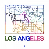 NAXART Studio - Los Angeles Watercolor Street Map