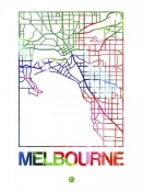 NAXART Studio - Melbourne Watercolor Street Map