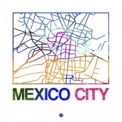 NAXART Studio - Mexico City Watercolor Street Map