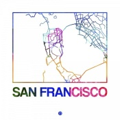 NAXART Studio - San Francisco Watercolor Street Map