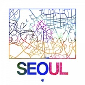 NAXART Studio - Seoul Watercolor Street Map
