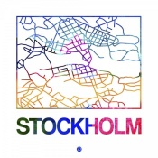 NAXART Studio - Stockholm Watercolor Street Map
