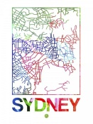 NAXART Studio - Sydney Watercolor Street Map
