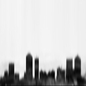 NAXART Studio - Atlanta City Black Skyline