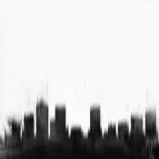 NAXART Studio - Denver City Black Skyline