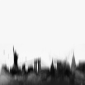 NAXART Studio - New York City Black Skyline