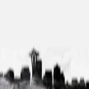 NAXART Studio - Seattle City Black Skyline