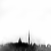 NAXART Studio - Washington DC City Black Skyline